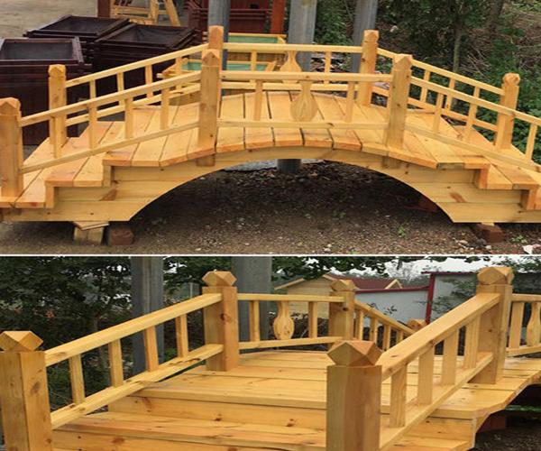 仿古木桥安装