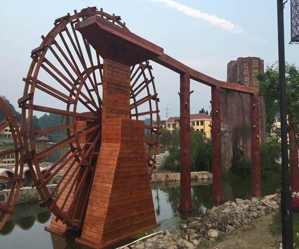 重庆防腐木水车