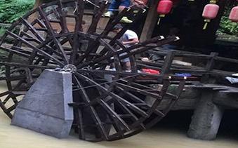 重庆黑山谷景观仿古水车
