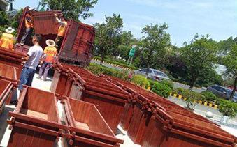 重庆大路服务区防腐木花箱
