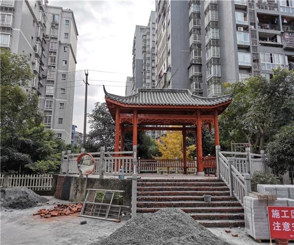 重庆永川小区仿古小青瓦长廊